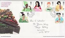 GB Stamps First Day Cover Europa Gastronomy, food etc SHS Plate,knife,fork  2005