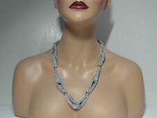 Adami & Martucci Sterling Silver 'Mesh' Station Loop Necklace. ***NEW***$295***