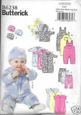 6238 INFANTS JACKET,OVERALLS, PANTS BUNTING,HAT NB-XL BUTTERICK  PATTERN 6238