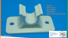 RV, Polar White Plastic Clip Entry Door Holder Pair - 2Pk Door Holder Socket On