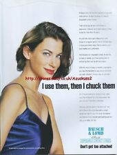 Bausch & Lomb Disposable Contact Lenses 1997 Magazine Advert #4172