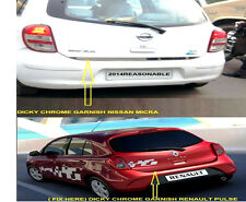 car dicky chrome garnish for NISSAN MICRA / RENAULT PULSE