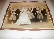 Vintage Antique Cabinet Card Wedding Party Photograph Bride Groom Jessup, PA