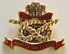 NORTH STAFFS REGIMENT  CLASSIC HAND MADE IN UK SILVER PLATED LAPEL PIN BADGE
