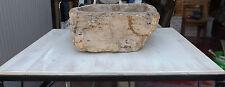 Piano per Lavabo in legno e ferro bianco decapato cm 70x50x28 lavandino pietra