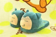 1 Pairs Pokemon Snorlax Soft Plush Indoor Shoes Home Warmth Costume Slippers