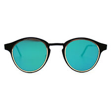 "NEW SPITFIRE Black/Green ""WARP"" Retro Oval Sunglasses -SALE"