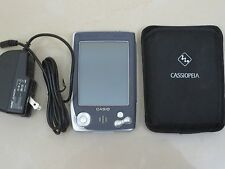 Casio CASSIOPEIA E-100 Handheld Pocket PC w/ Case Charger Handhelds PDA Vtg 90s