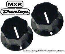 2x Genuine Dunlop MXR Knobs for Pedal - Black - set screw
