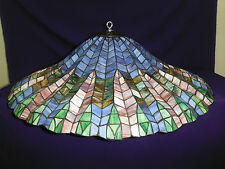 "Vintage Tiffany Style ""Lotus Leaf"" Lamp Shade / Ceiling / Chandelier 28 1/2"""