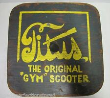 Vintage Titus Gym Scooter old retired school gym class toy 4 roller skateboard