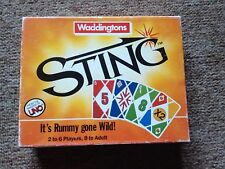 Sting Card Game by Gibson Games - Travel Rummy / Uno - Vintage - Complete