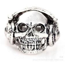 New Arrivals Punk Music Skull Ring 316L stainless steel SKULL Ring Size 9
