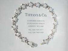 Tiffany & Co Sterling Silver Star Link Continuous Star 7.5 Inch Bracelet