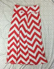 a.n.a Maxi Skirt Large Long Chevron Print White Flowy Soft Beach Skirt