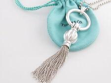 Tiffany & Co Silver Tassel Dangle Dangling Necklace 34.5 Inch Box Pouch Card