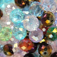 10mm Faceted Cut Crystal Rondelle Beads (100) Mixed Colors NEW LOWER PRICE!!!!