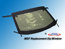MGF MG TF Car Replacement Zip Rear Window Black Mohair