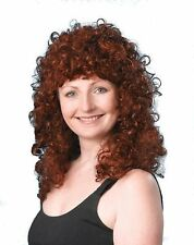 80s Perm Curly Female Fancy Dress Wig - Brown