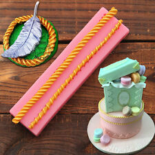 Long Rope Silicone Fondant Mould Cake Chocolate Baking Sugarcraft DIY Mold Tool