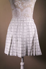 Tail Black and White Geometric  Plaid Tennis Pleated Skirt Size 8 Made in USA