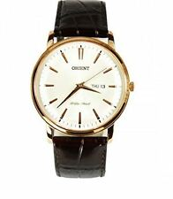 Orient Capital Collection FUG1R005W6 White Dial Brown Leather Band Men's Watch