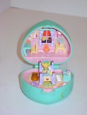 Vintage 1991 Bluebird Polly Pocket Midge's Bedtime Green Teal Aqua Ring Compact