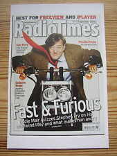 Postcard Radio Times Cover September 2010 BBC TV QI Stephen Fry on Motor bike