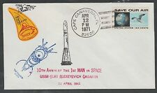 1971 space cover - Doc's Local Post - YURI GAGARIN 10th anniv. CAPE CANAVERAL