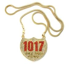 "ICED OUT 1017 BRICK SQUAD PENDANT-6 & 36"" FRANCO CHAIN"