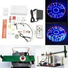 DIY Electronic Clock Rotating LED Kit Remote Control Welding Digital Parts