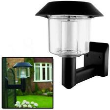 Bright LED Solar Powered Fence Gate Wall Lamp Post Light Outdoor Garden Yard DH