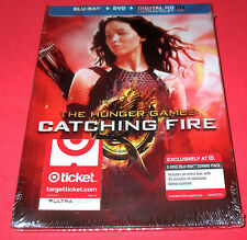 HUNGER GAMES CATCHING FIRE- TARGET EXCLUSIVE- BLU-RAY+ DVD 3- Discs- NEW SEALED