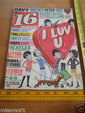 The Beatles 1967 16 magazine The Monkees Davy Jones Herman's Hermits VINTAGE