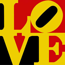 Love 01  A2+ by Robert Indiana High Quality Canvas Print