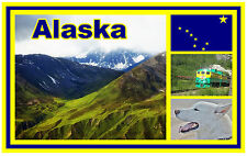 ALASKA - SOUVENIR NOVELTY FRIDGE MAGNET - BRAND NEW - GIFT / XMAS