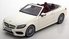 I-SCALE Mercedes-Benz C Klasse A205 Convertible White DEALER 1:18*New