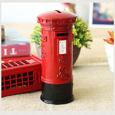 Vintage London Red Mailing Mailbox Saving box Piggy Bank Money Coin Box