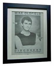 MIKE OLDFIELD+Discovery+POSTER+AD+RARE ORIGINAL+1984+FRAMED+EXPRESS GLOBAL SHIP