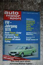 AMS Auto Motor Sport 16/77 Käfer Cabrio 1303 VW Passat Moto Guzzi 850