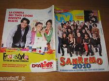 TV SORRISI E CANZONI=2010/7=MORGAN=LUCIA BOSE'=RAOUL BOVA=FESTIVAL SANREMO=
