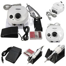 Pro 30000RPM White Electric Nail Drill File Buffer Bit Manicure Pedicure Set