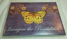 """Butterfly/Daisies""""Imagine the Possibilities"""" Decorative Ceramic Tile"""