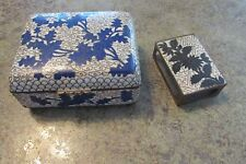 Vintage Cloisonne Trinket Box and Matchbox Holder Old China