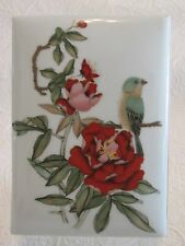 LIMOGES PORCELAIN Address BOOK Vintage Journal Cover Rochard Peonies & Bluebird