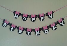 Minnie Mouse Happy Birthday Pink  Banner, free shipping