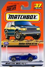 Matchbox MB 37 Dodge Viper RT/10 Blue Mint On Card 1999