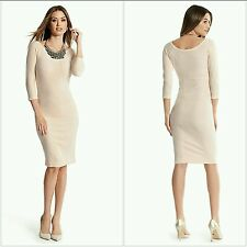 GUESS BY MARCIANO PINK Madge Sweater Dress SIZE S