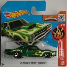 Hot Wheels - ´69 / 1969 Dodge Coronet Superbee grünmet. mit Flammen Neu/OVP