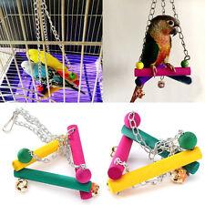 Haustier Vögel Papagei Spielzeug Schaukel Wellensittich Sitz KlettenHängebrücke